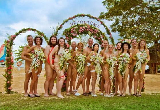 nude wedding use