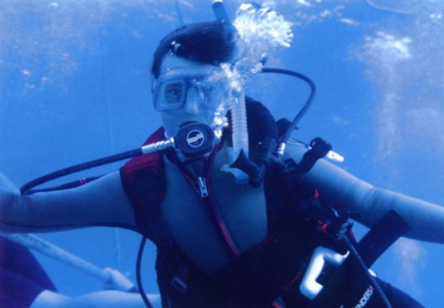 18A - Jean Diving off T&C Islands - 1999
