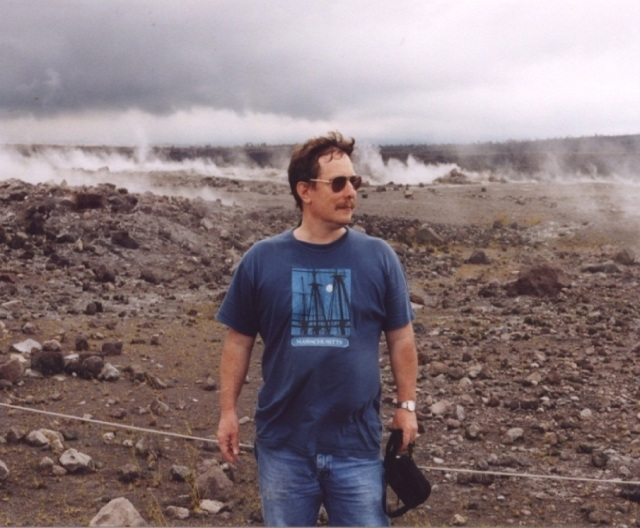 21C - Chris at Kilauea Cauldera - 2002 - 180 lbs