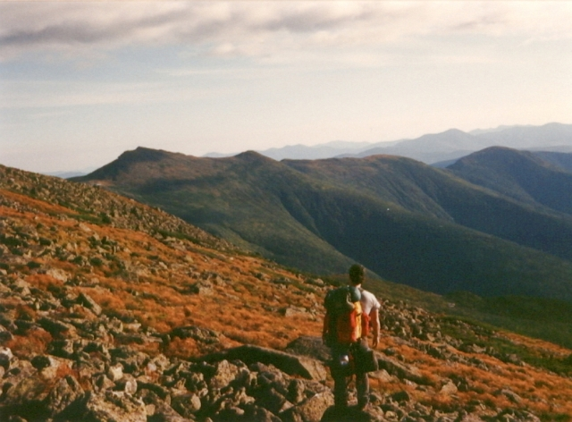 6A - Chris on West Flank of Mt Washington - 1989 150% IF